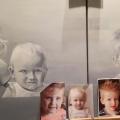 vanaf foto's geschilderd middelste kindje moest andere kleur ogen