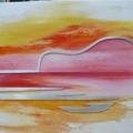Materie schilderij met muziek